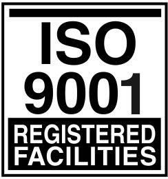 ISO 9001 Registered Facilities